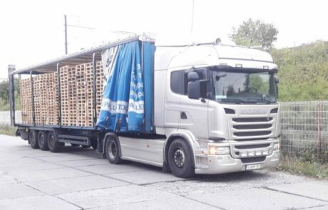 Pallettentransport vrachtwagen Readypal