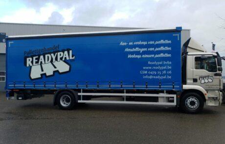 Vrachtwagen Readypal voor palettentransport